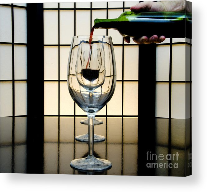 Banquet Acrylic Print featuring the photograph Wine For Three by John Debar