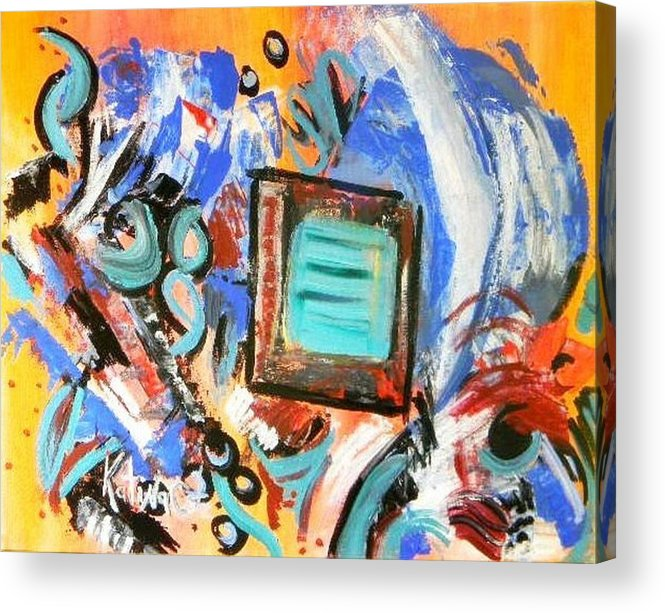 Modern Art Acrylic Print featuring the painting Pizazz by Katina Cote