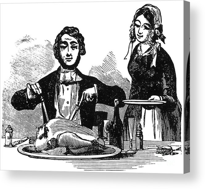 19th Century Acrylic Print featuring the photograph Thanksgiving, 19th Century by Granger