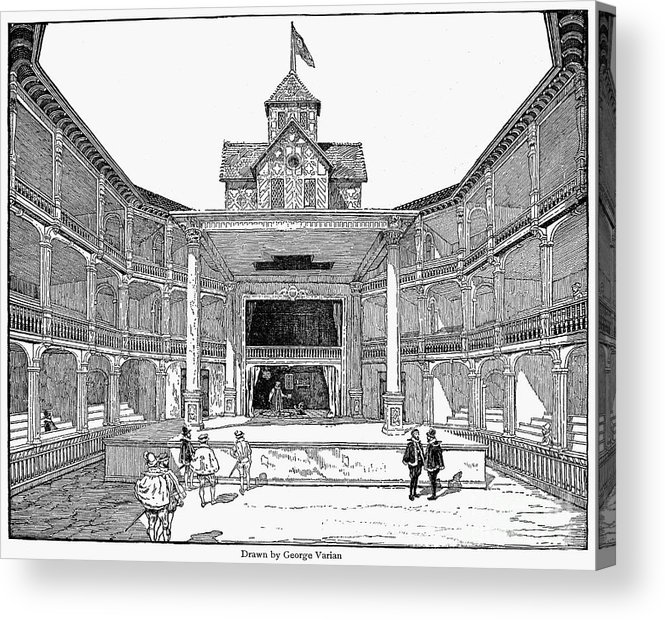 Actor Acrylic Print Featuring The Photograph London Globe Theatre By Granger