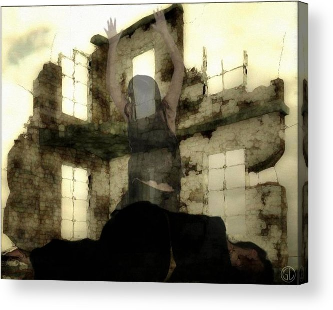 Digital Art Acrylic Print featuring the digital art Abandoned House by Gun Legler