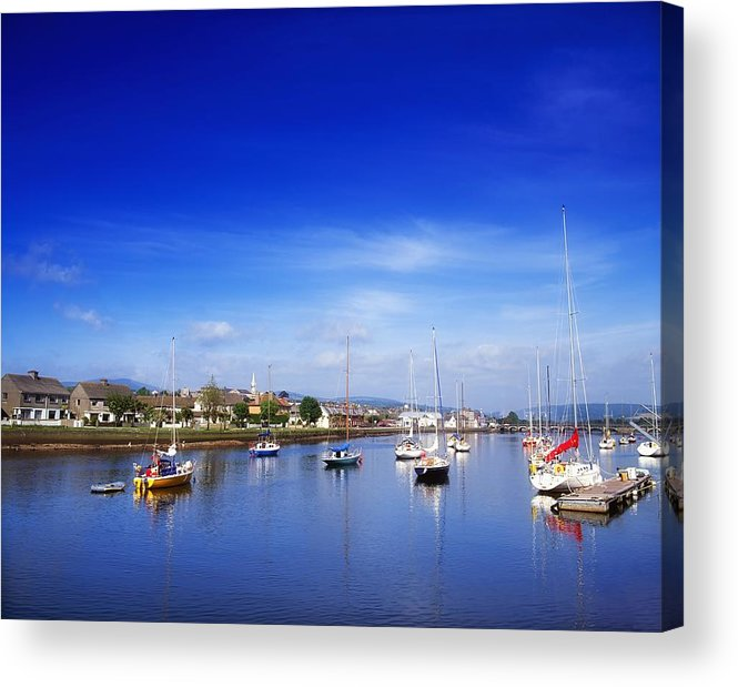 Arklow Harbour Acrylic Print featuring the photograph Arklow, River Avoca, County Wicklow by The Irish Image Collection