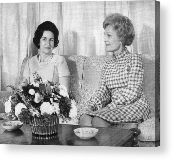 1960s Acrylic Print featuring the photograph First Lady Lady Bird Johnson Meets by Everett