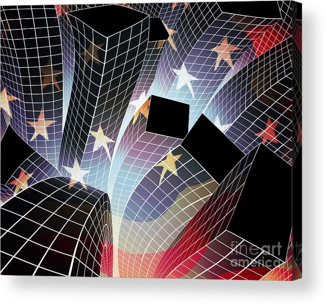 Aftershock Acrylic Print featuring the digital art Joy In The City by Atiketta Sangasaeng