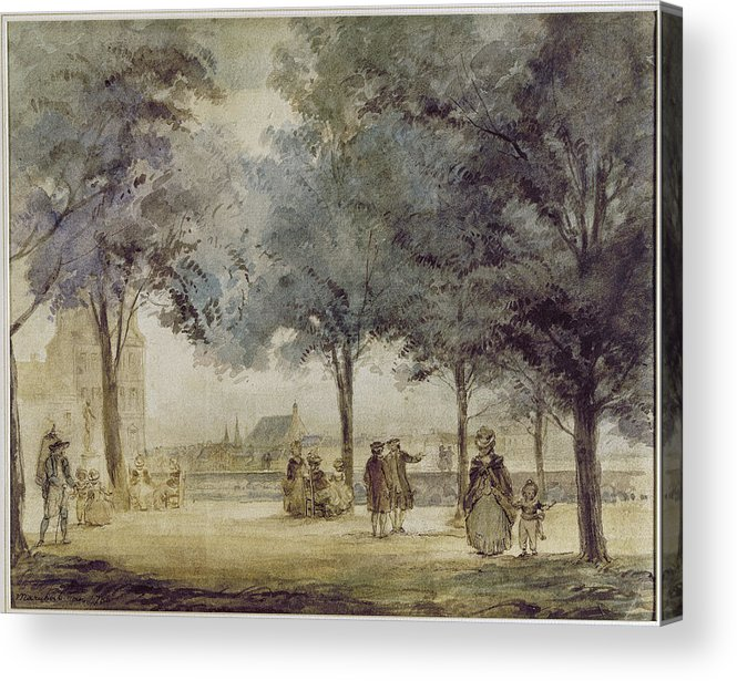 1786 Acrylic Print featuring the photograph Paris: Tuilerie Gardens by Granger