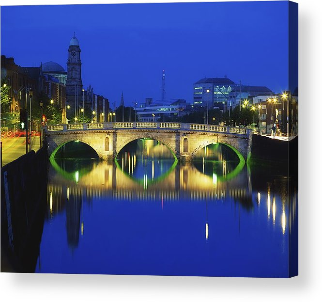 Evening Acrylic Print featuring the photograph Queens Street Bridge, River Liffey by The Irish Image Collection