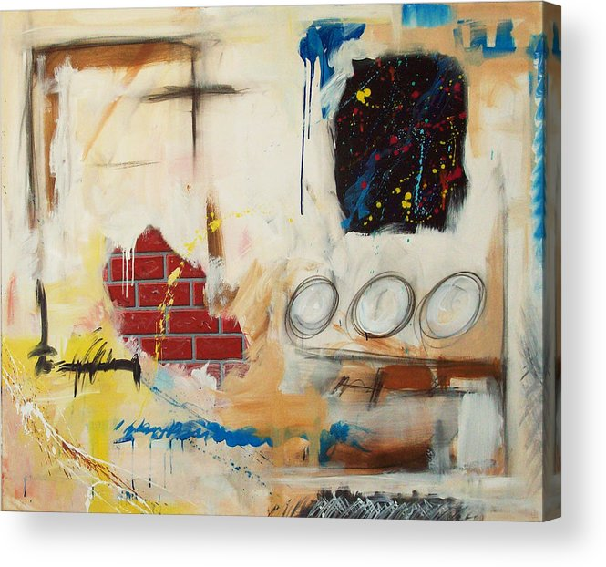 Abstract Acrylic Print featuring the painting Rough Rider by Snake Jagger