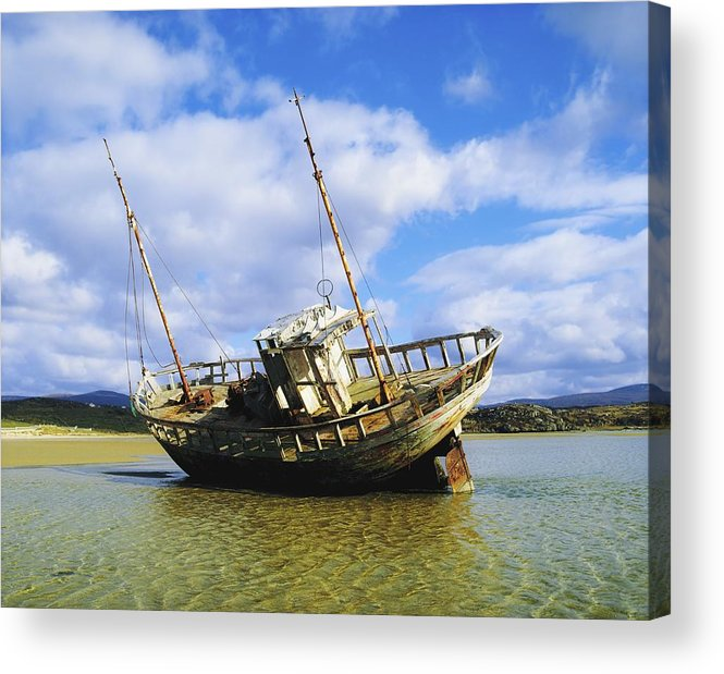 Beach Acrylic Print featuring the photograph Shipwrecks, Bunbeg, Co Donegal by The Irish Image Collection
