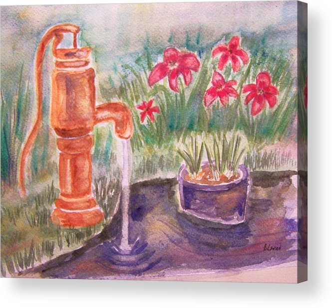 Water Pump Acrylic Print featuring the painting Water Pump by Belinda Lawson