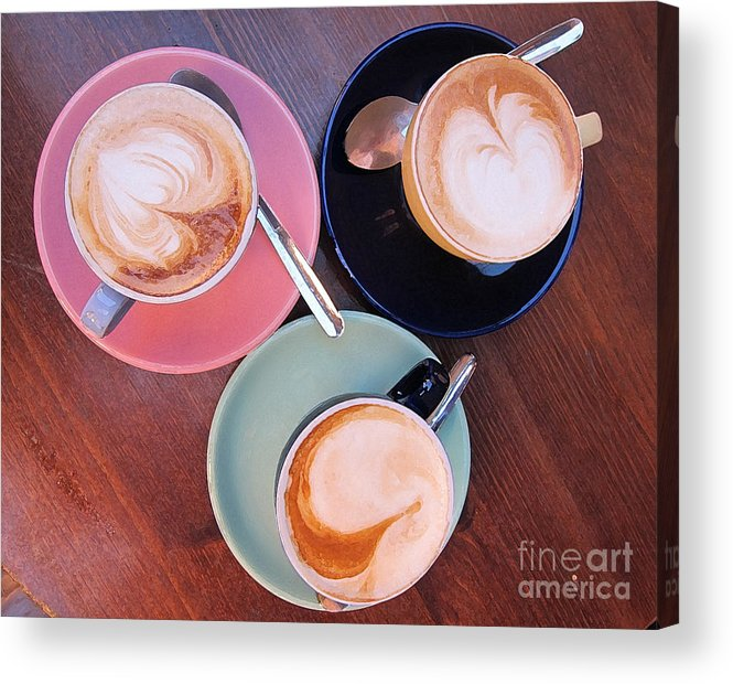 Coffee Acrylic Print featuring the photograph When In Rome by Robin Ziegelbaum