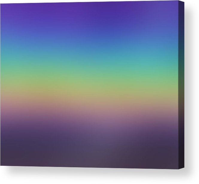 Evening.colors.silince.rest.sky.sea.clean Sky.violet.blue.yellow.rose.darkness. Acrylic Print featuring the digital art Evening by Dr Loifer Vladimir