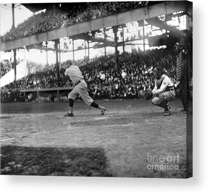 1921 Acrylic Print featuring the photograph George H. Ruth (1895-1948) by Granger