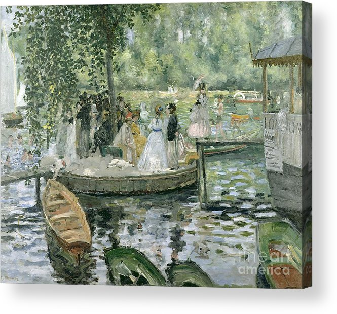 Grenouillere Acrylic Print featuring the painting La Grenouillere by Pierre Auguste Renoir