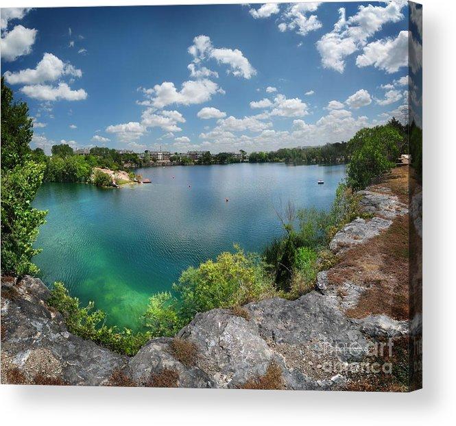 Quarry Lake Swimming Hole - Austin, Texas Acrylic Print