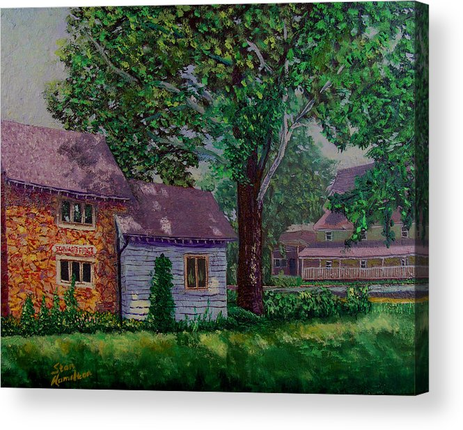 Landscape Acrylic Print featuring the painting Schwabs Fudge by Stan Hamilton