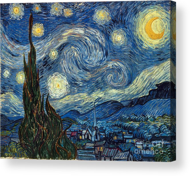 1889 Acrylic Print featuring the painting Van Gogh Starry Night by Granger