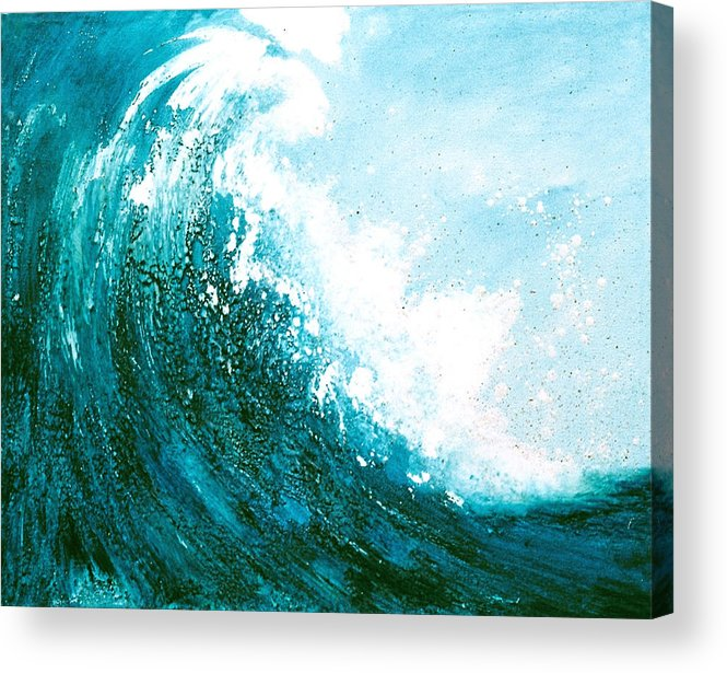 Seascape Acrylic Print featuring the mixed media wave I by Martine Letoile