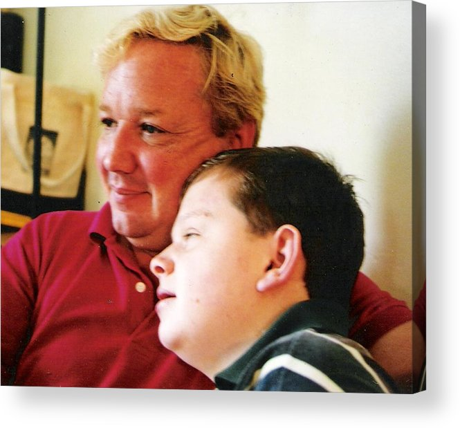 Acrylic Print featuring the photograph Father And Son by Scarlett Royal