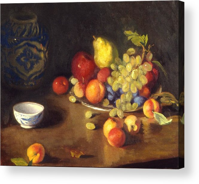 Still Life Acrylic Print featuring the painting Abundance Of Fruit by David Olander