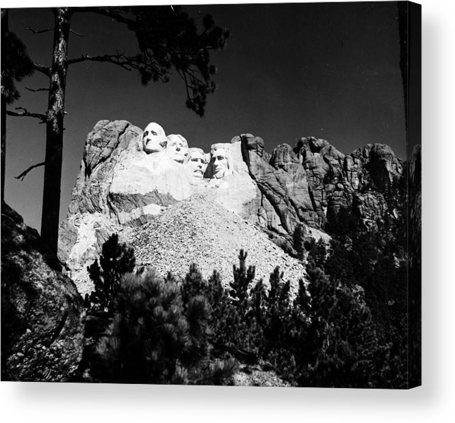 1930s Acrylic Print featuring the photograph Mount Rushmore by Granger