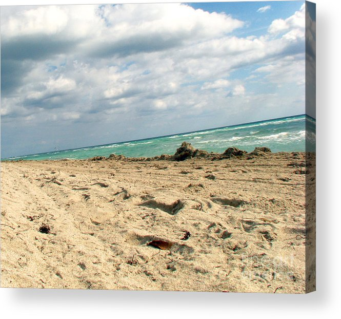 Miami Acrylic Print featuring the photograph Miami Beach by Amanda Barcon