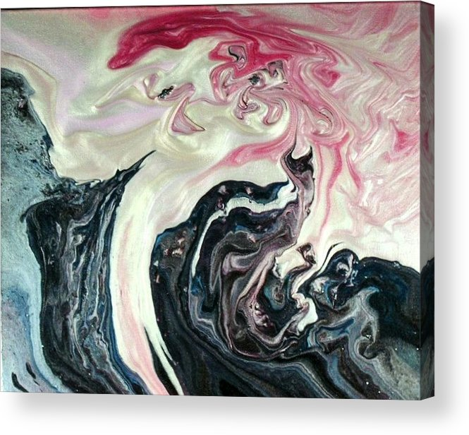 Abstract Acrylic Print featuring the painting Angels Vs Demons by Patrick Mock
