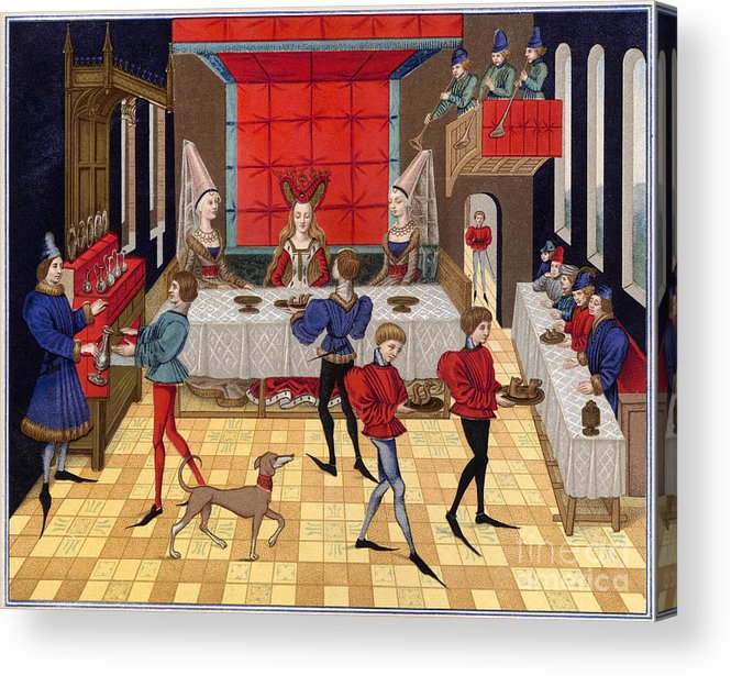 15th Century Acrylic Print featuring the photograph Banquet, 15th Century by Granger