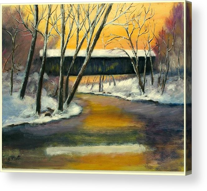 Kentucky Acrylic Print featuring the painting Bennett by Gail Kirtz