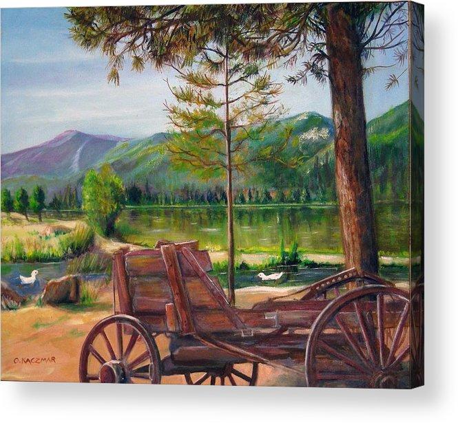 Landscape Acrylic Print featuring the painting Buckboard by Olga Kaczmar
