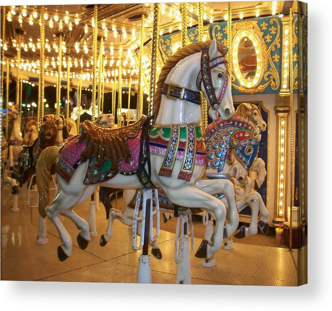 Carosel Horse Acrylic Print featuring the photograph Carosel Horse by Anita Burgermeister