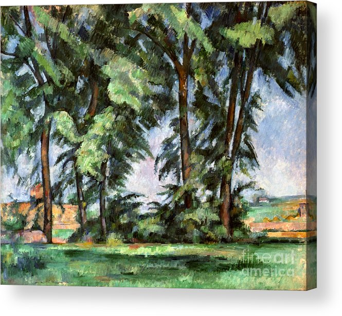 1887 Acrylic Print featuring the photograph Cezanne: Trees, C1885-87 by Granger