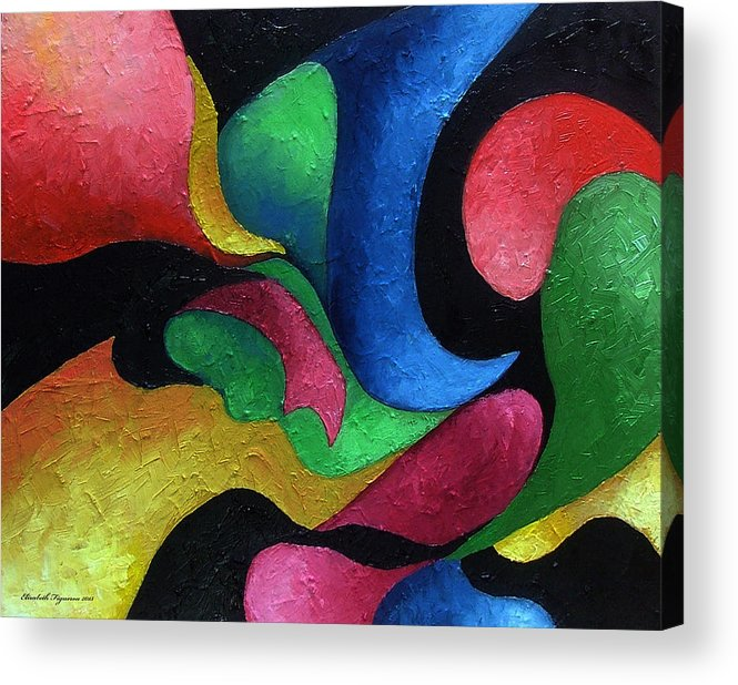 Abstract Acrylic Print featuring the painting Dance With Me by Elizabeth Lisy Figueroa