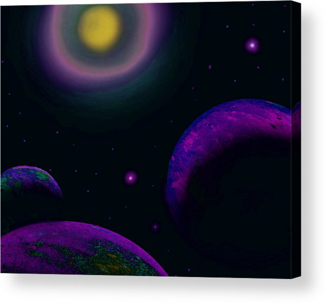 Sun Acrylic Print featuring the painting Distant Sun by Tray Mead
