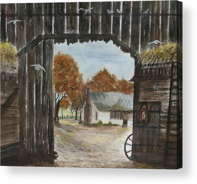 Grandpa And Grandma's Homeplace Acrylic Print featuring the painting Down Home by Ben Kiger