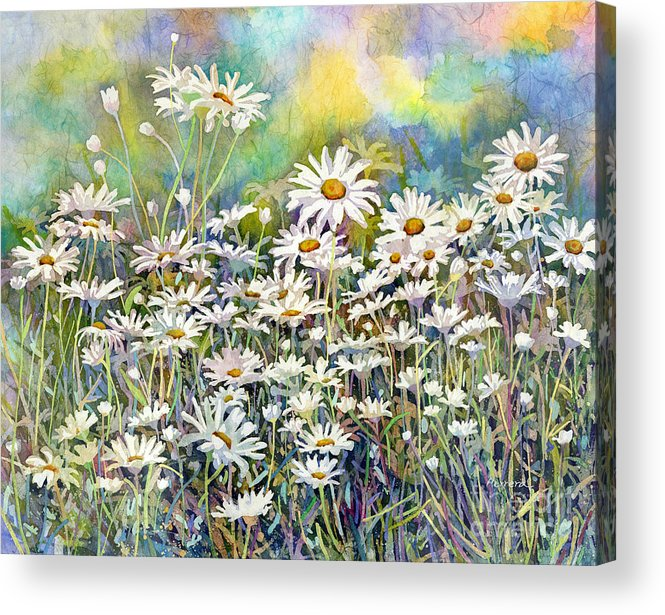 Daisy Acrylic Print featuring the painting Dreaming Daisies by Hailey E Herrera