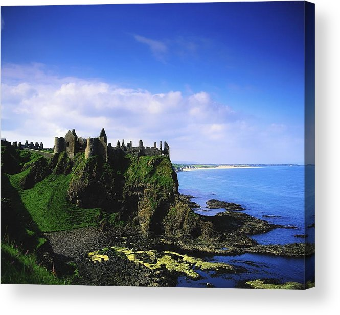 Archeology Acrylic Print featuring the photograph Dunluce Castle, Co Antrim, Irish, 13th by The Irish Image Collection