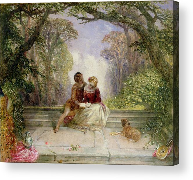 Early Summer By Alfred Woolmer (1805-92) Acrylic Print featuring the painting Early Summer by Alfred Woolmer