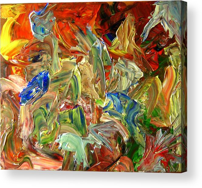 Weather Acrylic Print featuring the painting Elemental Merge by Karen L Christophersen