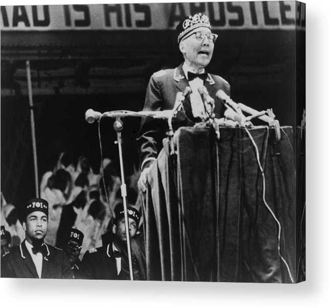 History Acrylic Print featuring the photograph Elijah Muhammad, Leader Of The Black by Everett