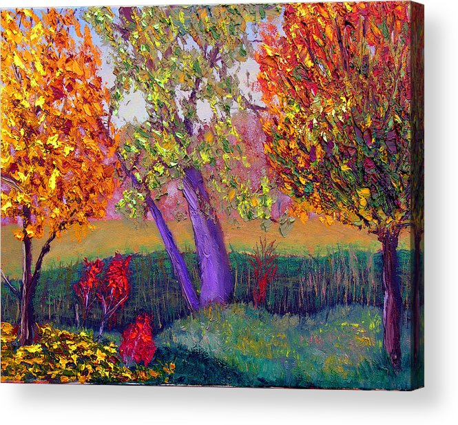 Fall Acrylic Print featuring the painting Fall Colors by Stan Hamilton