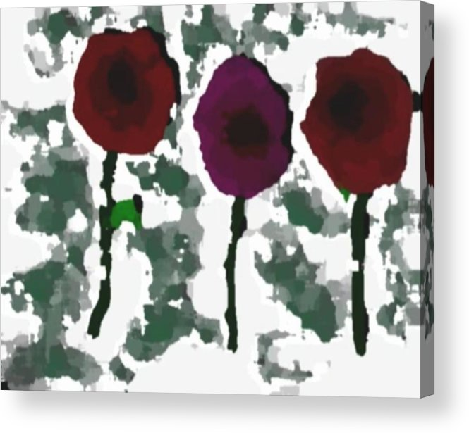 Flowers.love.happiness.gift.senses. Laughter Acrylic Print featuring the digital art Flowers Of Love by Dr Loifer Vladimir