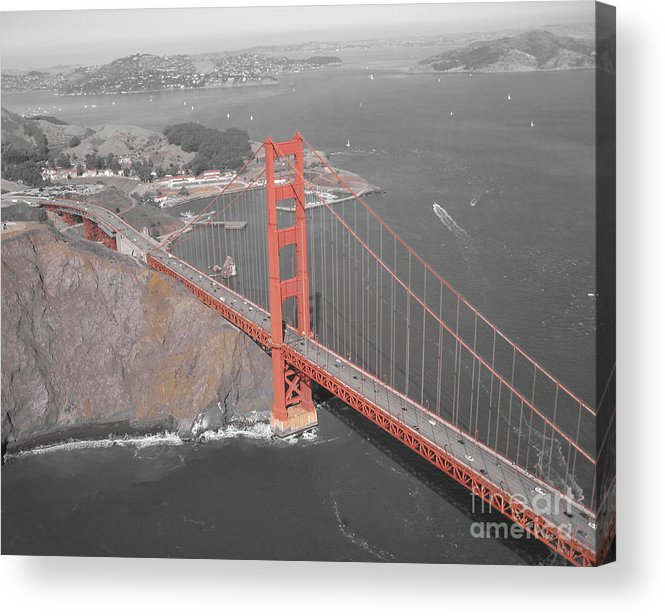 Bridges Acrylic Print featuring the photograph Golden Gate The Color Of The Bridge by Jerry Patchin