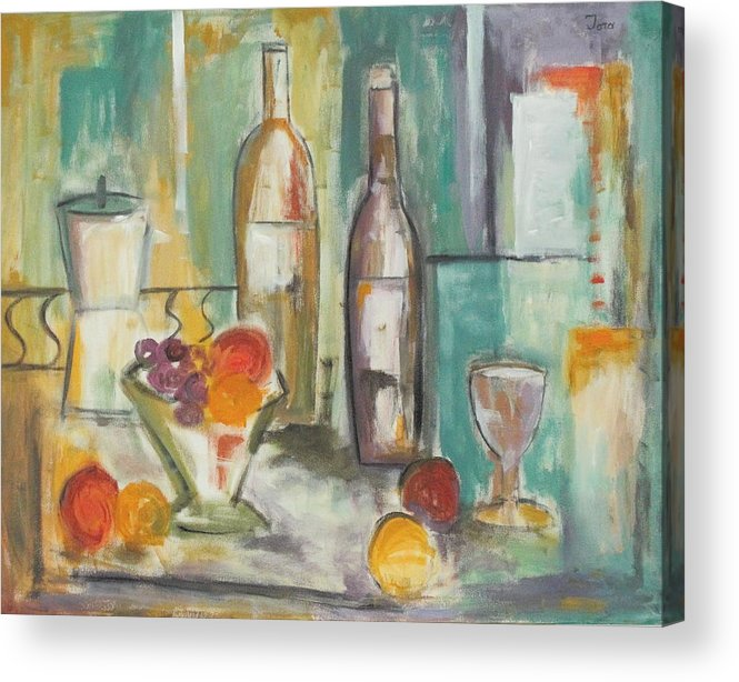 Abstract Acrylic Print featuring the painting Happy Hour I by Trish Toro