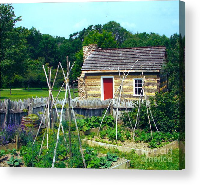Garden Acrylic Print featuring the photograph Herb And Vegetable Garden by Penny Neimiller