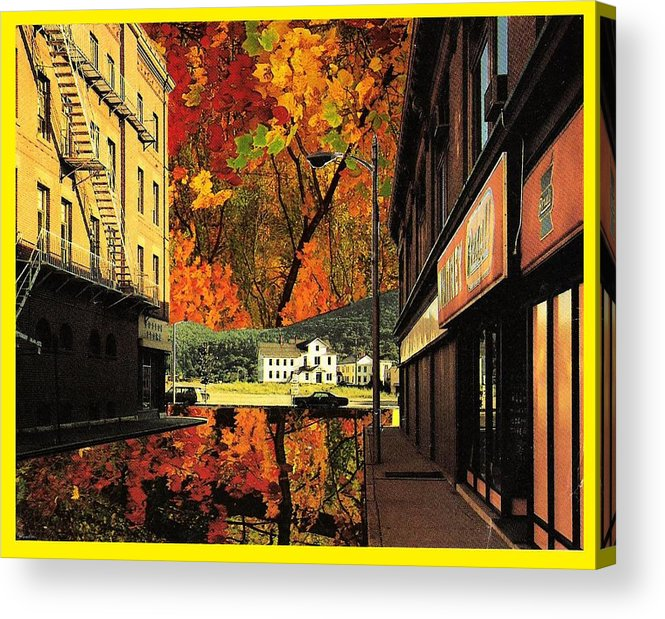 Leaves Acrylic Print featuring the mixed media Holden Street by Gabe Art Inc
