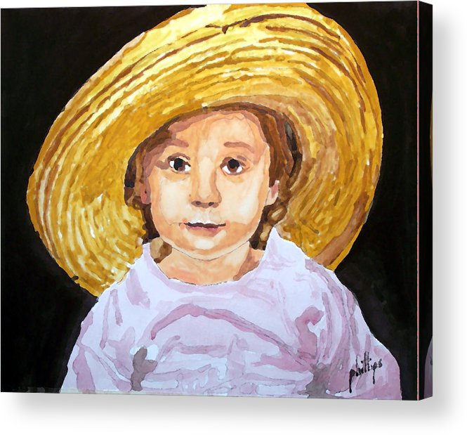 Hat Acrylic Print featuring the painting If The Hat Fits... by Jim Phillips