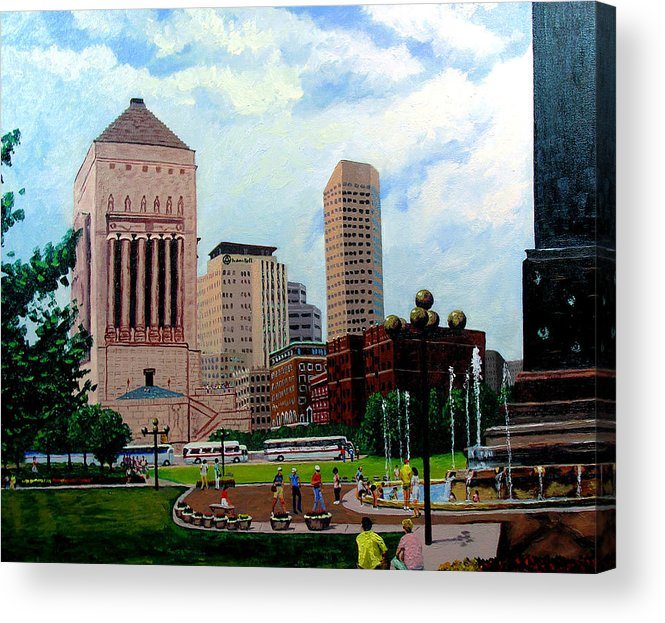 Indianapolis Acrylic Print featuring the painting Indy Festival by Stan Hamilton