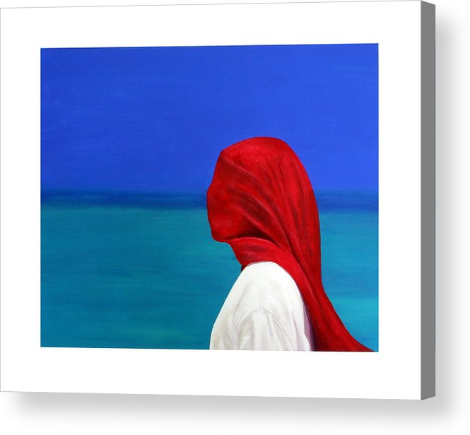 Red Acrylic Print featuring the painting It Could Be You by Fiona Jack