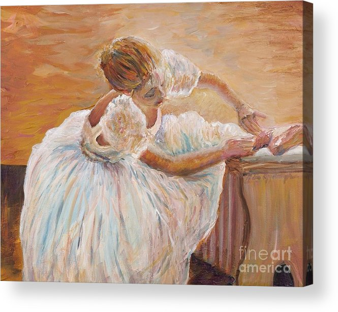 Dancer Acrylic Print featuring the painting Kaylea by Nadine Rippelmeyer