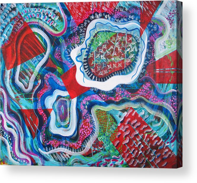 Abstract Acrylic Print featuring the painting Microcosm Ix by Rollin Kocsis